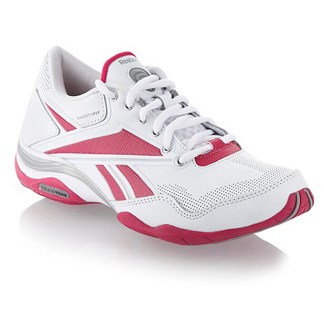 Reebok - White and pink +Traintone+ trainers