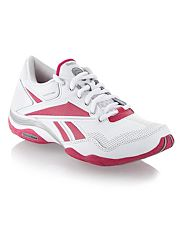 White and pink Traintone trainers