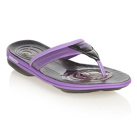 Reebok - Purple domed sole flip flops