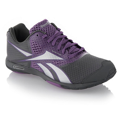 Reebok - Grey and purple 'Slimtone' trainers