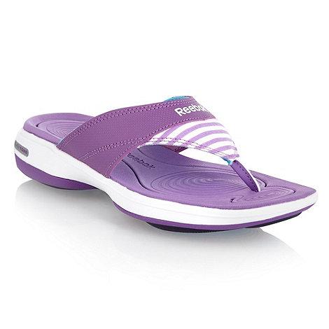Reebok - Purple +Easytone+ flip flops