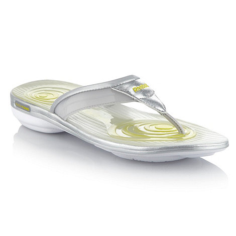 Reebok - Silver +Easytone plus+ flip flops