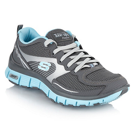 Skechers - Grey +Tone Ups+ trainers