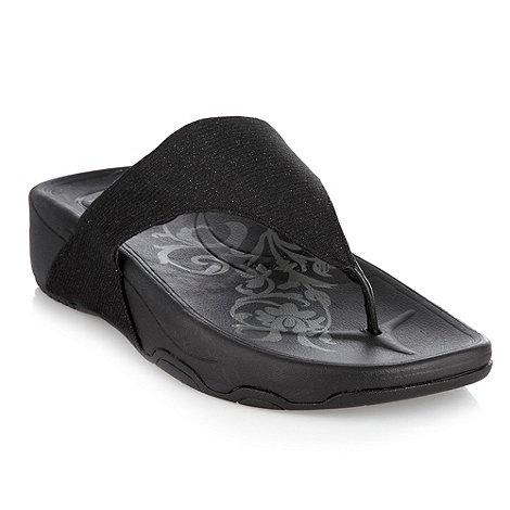 Skechers - Black +Tone-up+ flip flops