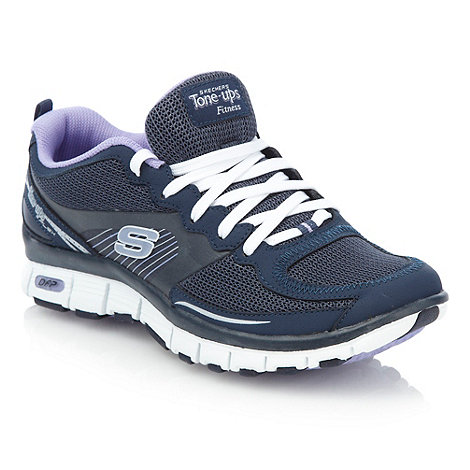 Skechers - Navy +Tone Up+ trainers