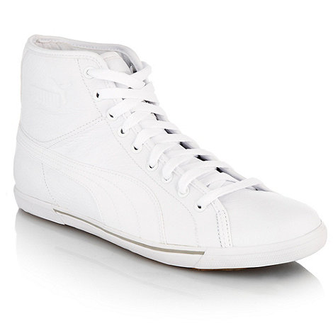 Puma - White +Benicio+ high top trainers