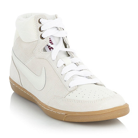 Nike - Beige +Double Team+ high top trainers