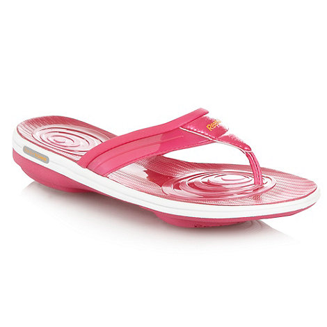 Reebok - Pink +Easytone+ flip flops