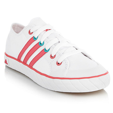 Adidas - White low canvas trainers