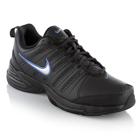 Nike - Black leather +T-Lite X+ trainers