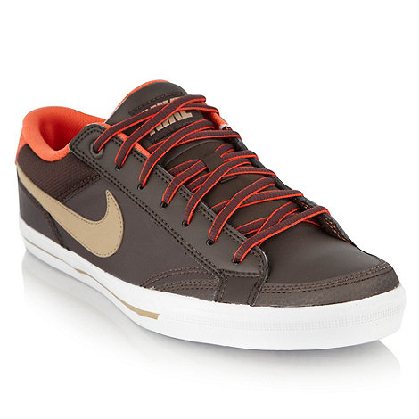 Nike - Brown leather +Capri II+ trainers