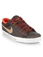 Nike Brown leather Capri II trainers
