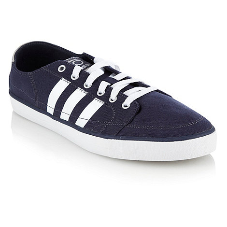 adidas - Navy +VLNeo+ canvas trainers