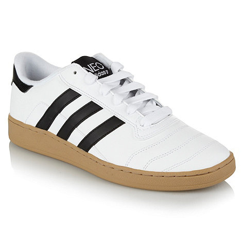 adidas - White leather +Munsie+ trainers