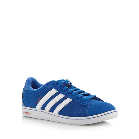 adidas - Blue +Derby+ suede trainers