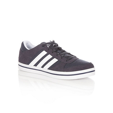 adidas - Navy +Lite Low+ suede trimmed trainers