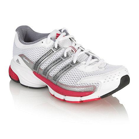 adidas - White +Questar+ cushion running trainers