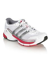 Adidas White Questar cushion running trainers