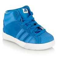 Adidas Boy's blue 'Superstar' trainers