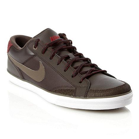 Nike - Brown leather +Capri+ trainers