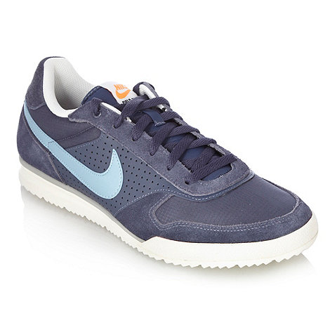 Nike - Blue suede +Field+ trainers