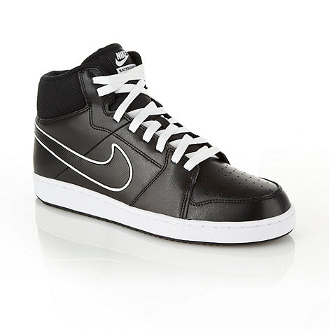 Nike - Black +Backboard+ leather high top trainers
