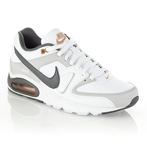 Nike - White +Air Max Command+ trainers