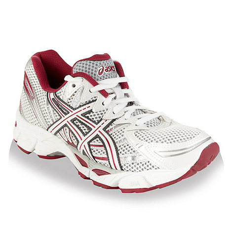 ASICS - White and pink 'Gel Virage' mesh trainers