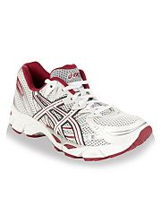 White and pink Gel Virage mesh trainers