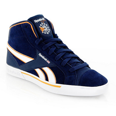 Reebok - Navy +Breakpoint+ high top trainers