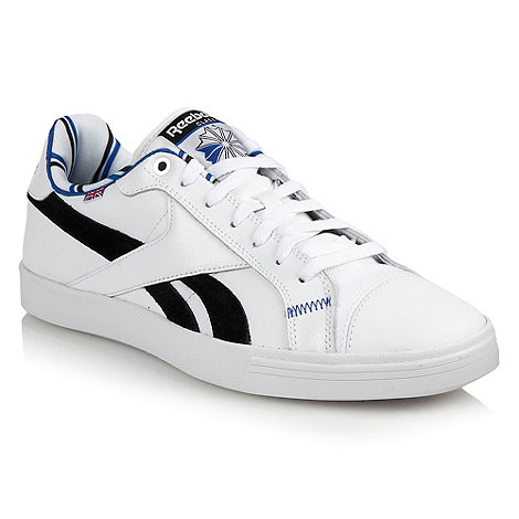 Reebok - White appliqued tennis trainers