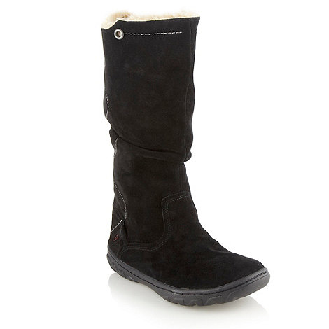 Caterpillar - Black mid length flat boots