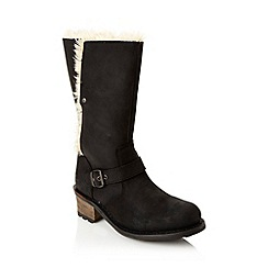 Caterpillar - Black faux fur trimmed boots