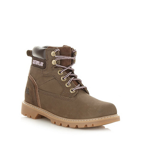 Caterpillar - Tan leather worker boots