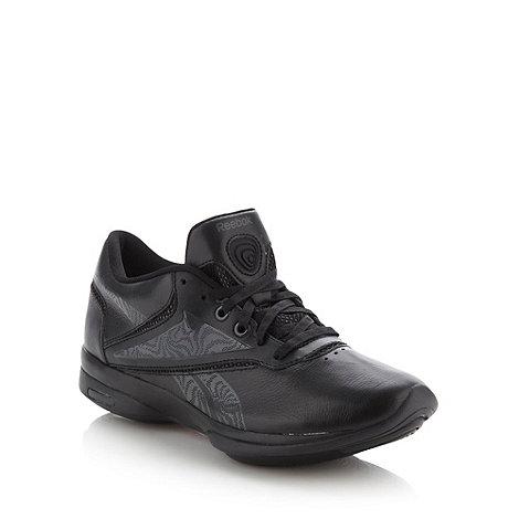 Reebok - Black leather +Reawaken II+ trainers