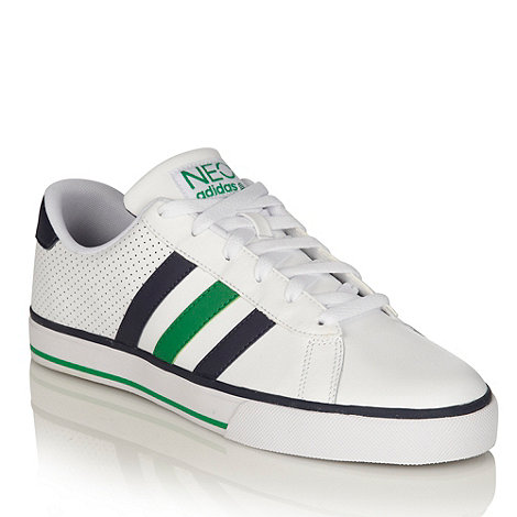 adidas - White leather trainers