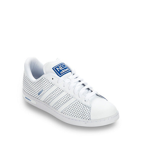 adidas - White +Neo Derby II+ perforated trainers