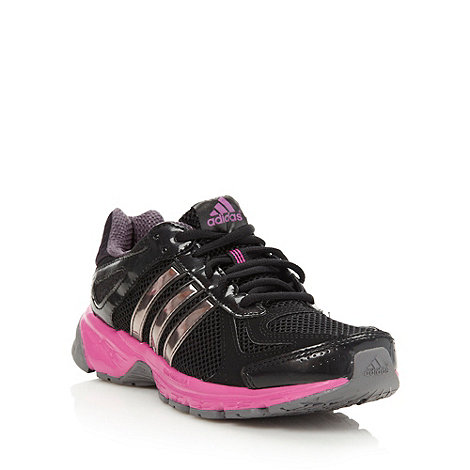 adidas - Black mesh lace up trainers