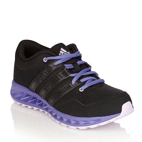 adidas - Black mesh trainers with purple trim