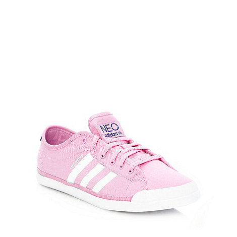 adidas - Pink canvas trainers