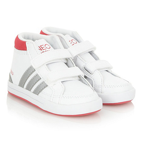 adidas - Girls+ white +Neo Skool+ high top trainers