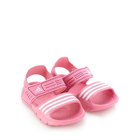 adidas - Girl+s pink rip tape sandals
