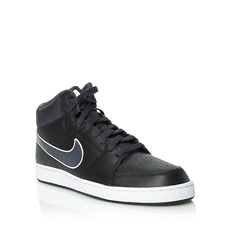 Nike - Black +Backboard II+ high top trainers