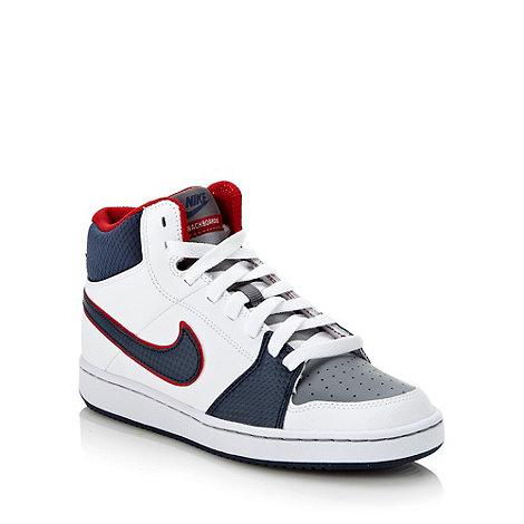Nike - White +Backboard+ high top trainers