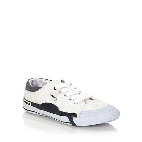Caterpillar - White canvas +Rendez+ shoes