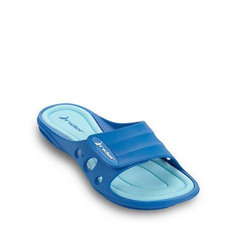 Rider - Blue keyhole flip flops