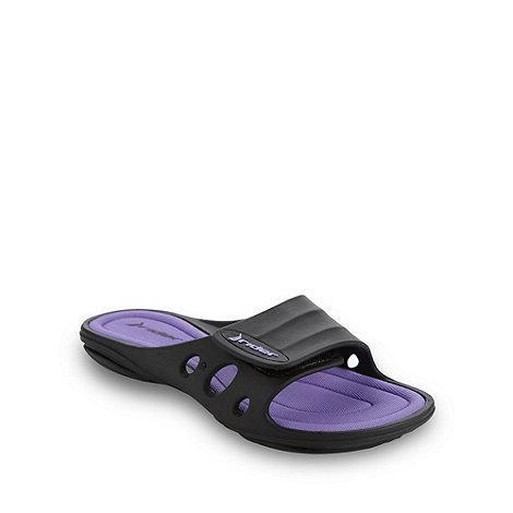 Rider - Purple keyhole flip flops