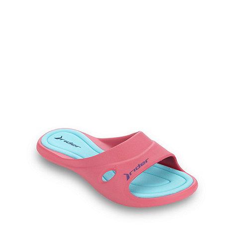 Rider - Dark pink cutout flip flops