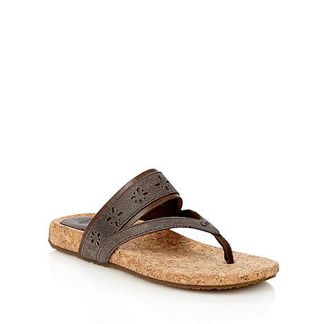 Caterpillar - Brown leather +Tasie+ sandals