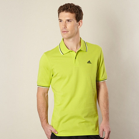 adidas - Lime tipped polo shirt
